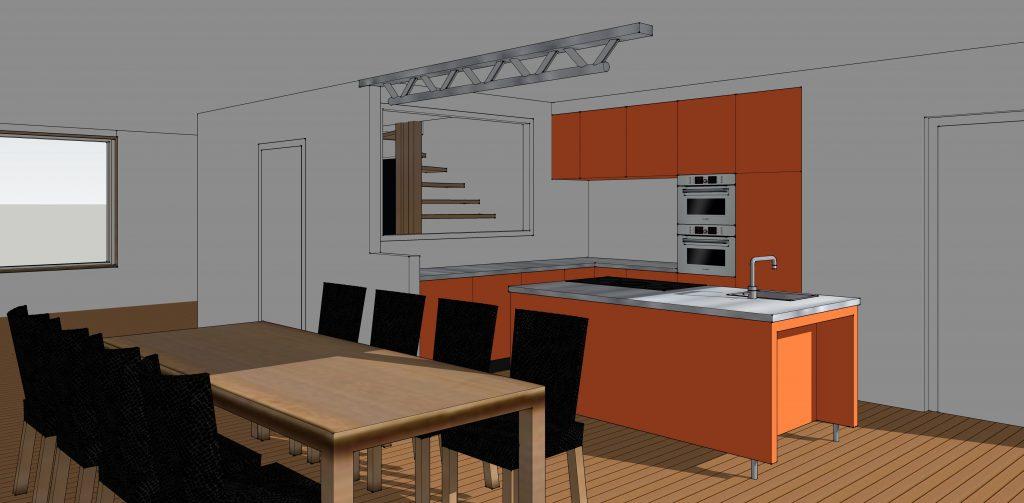 LBS63 - Woning schets keuken