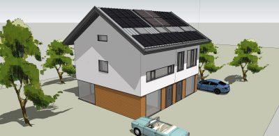geïsoleerd energie dak, zonnepanelen, zonneboiler, isolatie