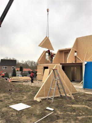 Montage houtskeletbouw; korte bouwtijd; isolatie in prefab; dampopen