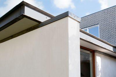 detail dakrand, architectuur, kozijnen triple glas